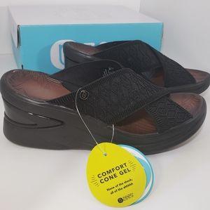 Brand New Blck COMFORT Machine Washable Sandal 7.5